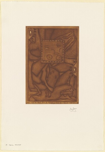 Untitled (Orange Mezzotint) [H trial proof]