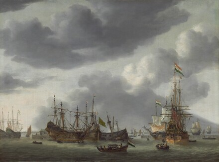 Amsterdam Harbor Scene