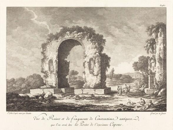 Vue de Ruines et de fragments de Construction antique...de l