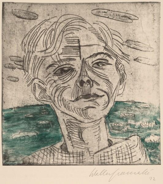 Man at the Sea, Self-portrait (Mann am Meer, Selbstporträt)