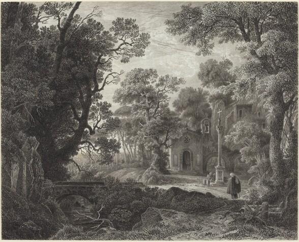 A Woodland Chapel at Evening