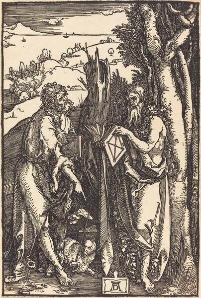 Saint John the Baptist and Saint Onuphrius