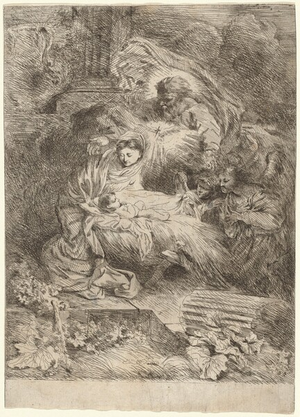 The Nativity with God the Father and the Holy Spirit