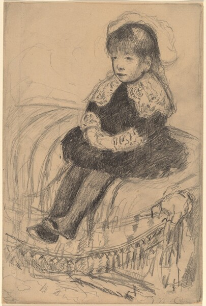 Child Seated on a Sofa