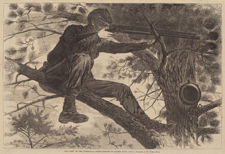 American 19th Century, Winslow Homer, The Army of the Potomac - A Sharp-Shooter on Picket Duty, published 1862