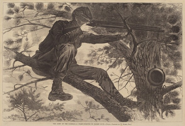 The Army of the Potomac - A Sharp-Shooter on Picket Duty