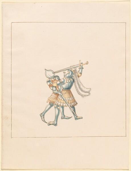 Freydal, The Book of Jousts and Tournament of Emperor Maximilian I: Combats on Foot (Jousts)(Volume III): Plate 160