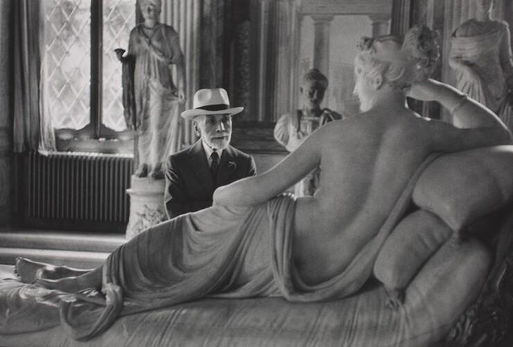 David Seymour (Chim), Bernard Berenson at Ninety, Visiting the Borghese Gallery, Rome, 1955, printed 1982