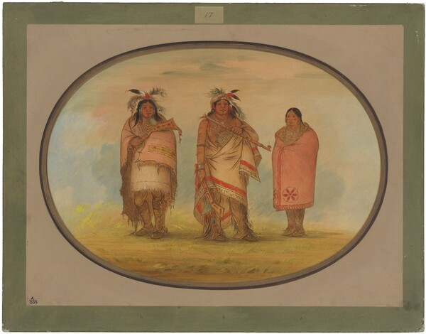 Menomonie Chief, His Wife, and Son