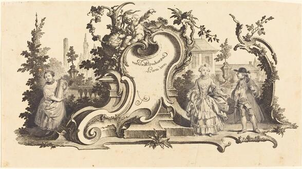 Cartouches Modernes orné avec des [diferentes Figures] (Plate VI-1 from the set)