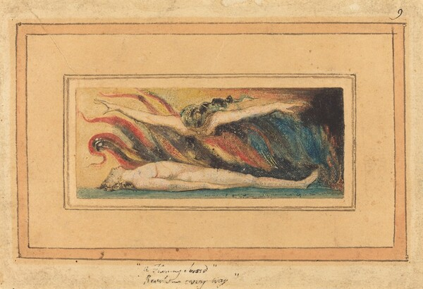 The Soul Hovering Over the Body [from Marriage of Heaven and Hell, plate 14]