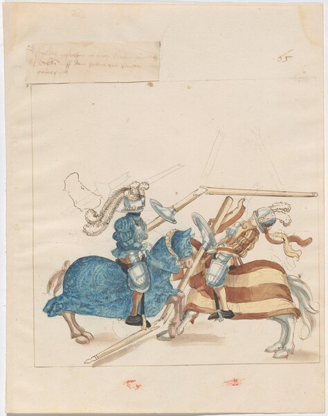 Freydal, The Book of Jousts and Tournaments of Emperor Maximilian I: Combats on Horseback (Jousts)(Volume I): Plate 60