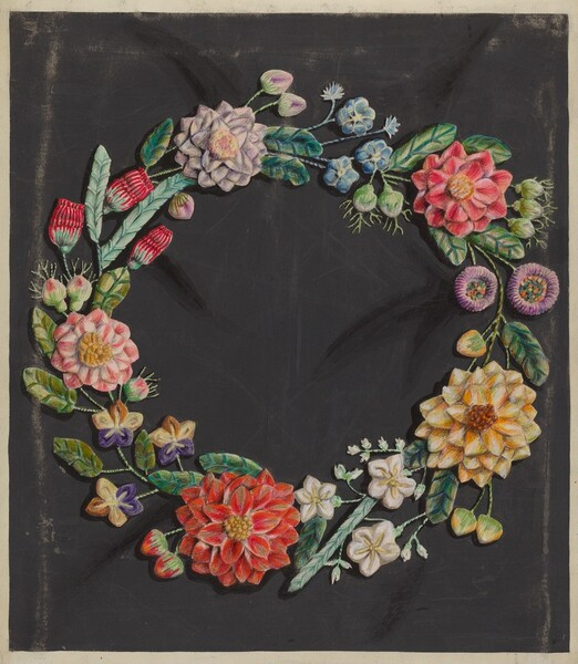 Crewel Work Wreath