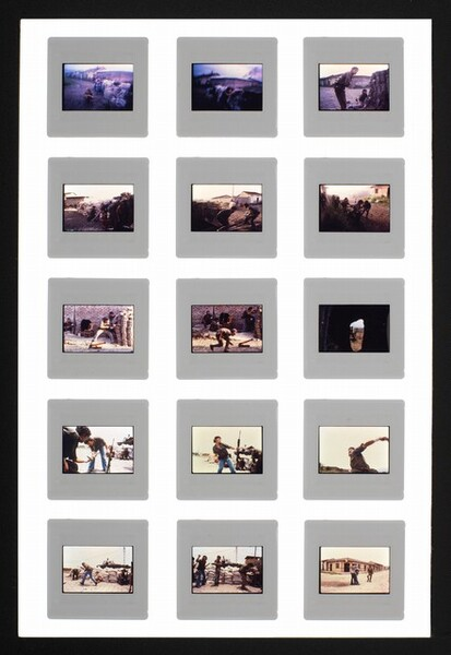 Series of transparencies from the final assault on the National Guard Headquarters, Estelí, Nicaragua, July 16, 1979