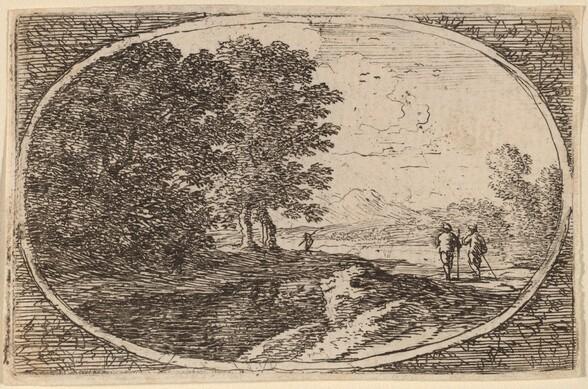 Three Men Carrying Staffs