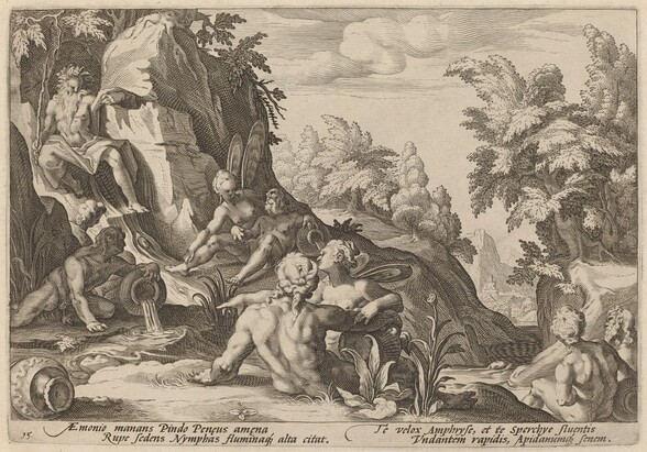 The River God Peneus Surrounded by Other Divinities