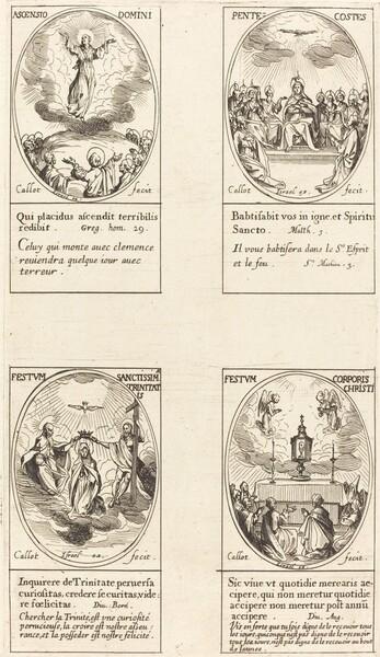 Ascension; Pentacost; Trinity; Corpus Christi