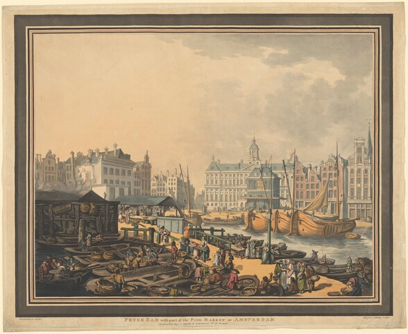 Feyge Dam, with part of the Fish Market at Amsterdam