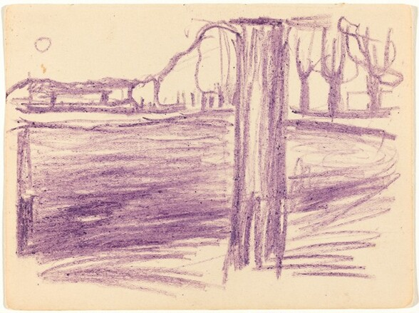 Landscape with Tree Trunk