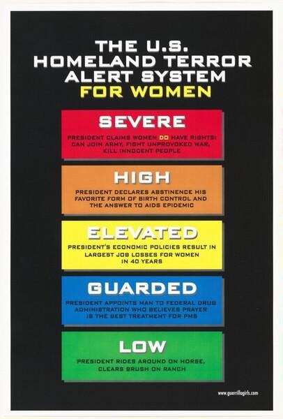 The U.S. Homeland Terror Alert System For Women