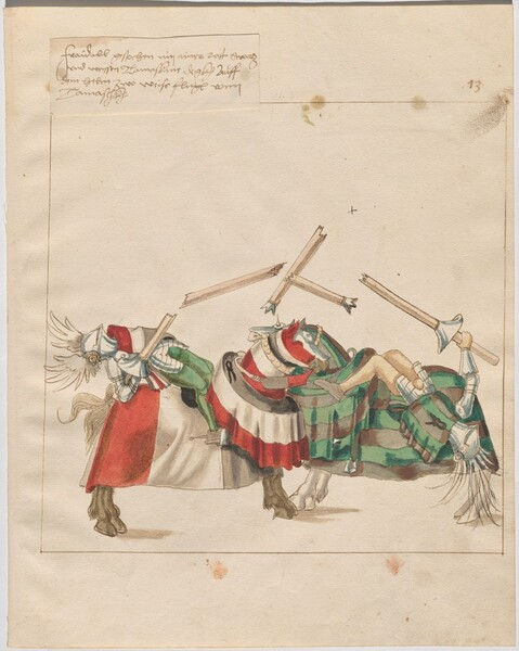 Freydal, The Book of Jousts and Tournaments of Emperor Maximilian I: Combats on Horseback (Jousts)(Volume I): Plate 12
