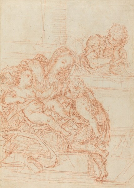 Madonna and Child with Saints John and Joseph [recto]