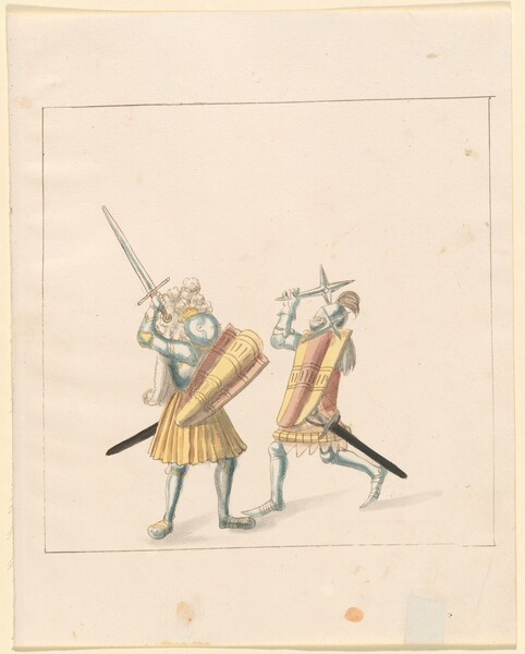 Freydal, The Book of Jousts and Tournament of Emperor Maximilian I: Combats on Foot (Jousts)(Volume III): Plate 155