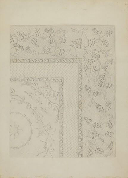 White Quilted Coverlet