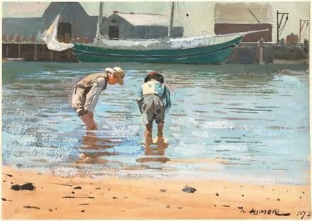 Winslow Homer, Boys Wading, 18731873