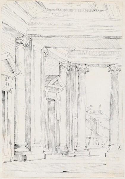 Portico of the Palazzo Nuovo, on the Campidoglio