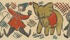 Circus Clown and Elephant