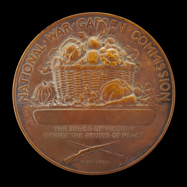 National War Garden Commission Medal [reverse]