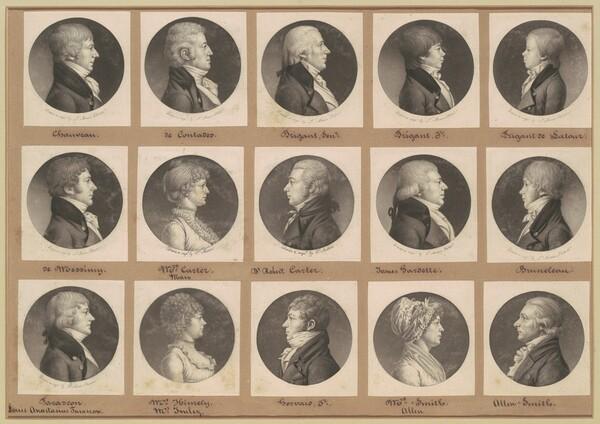 Saint-Mémin Collection of Portraits, Group 20