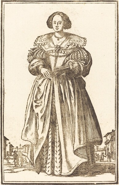 Noble Woman with Fan