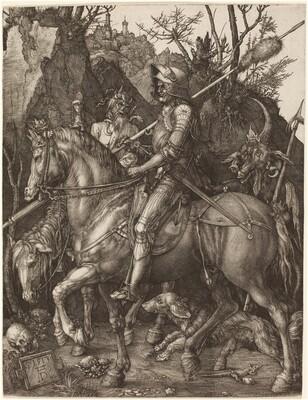 Albrecht Dürer, Knight, Death and Devil, 1513