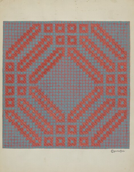 Coverlet - Section of Reverse Side