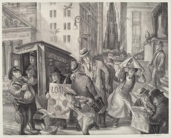 Wall Street at Noon