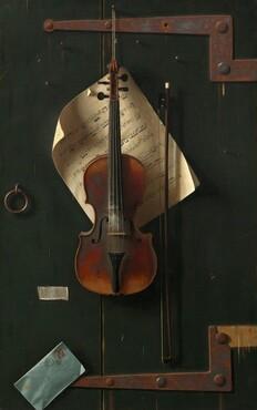 William Michael Harnett, The Old Violin, 18861886