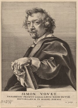 Robert van Voerst, Sir Anthony van Dyck, Simon Vouet, probably 1626/1641probably 1626/1641