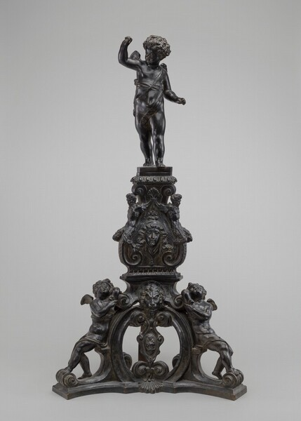 Andiron with Putto Finial