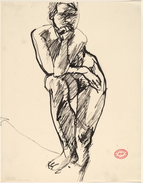 Untitled [standing nude with her right foot on a support]