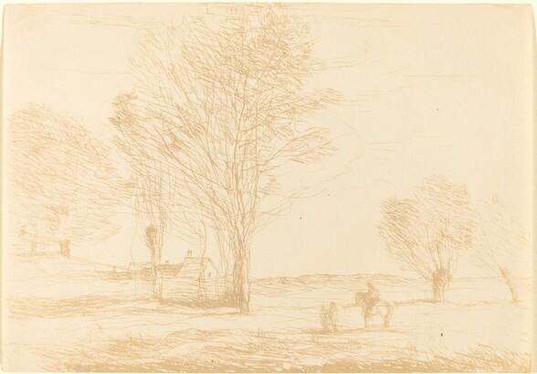 Horseman Halted in the Countryside (Cavalier arrete dans la campagna)