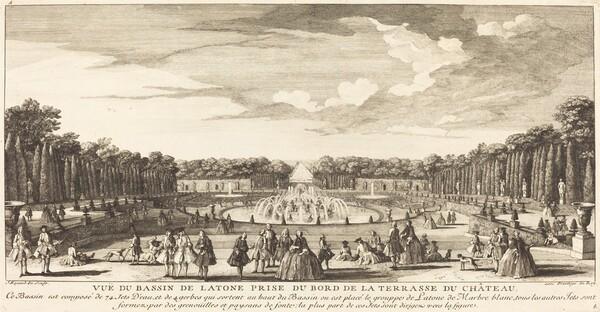 Vue du Bassin de Latone Prise du Bord de la Terrasse du Chateau