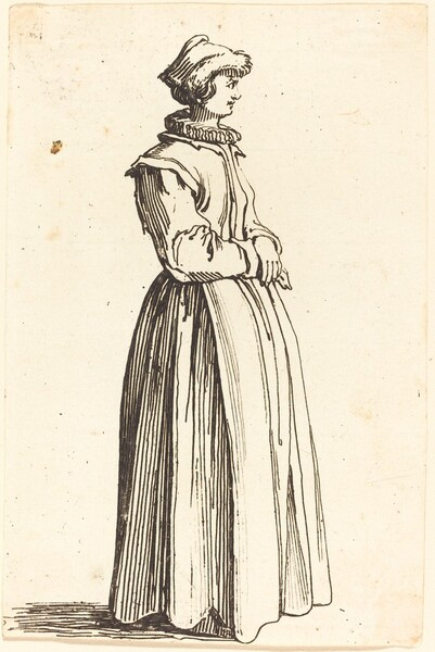Young Woman, in Profile, Facing Right