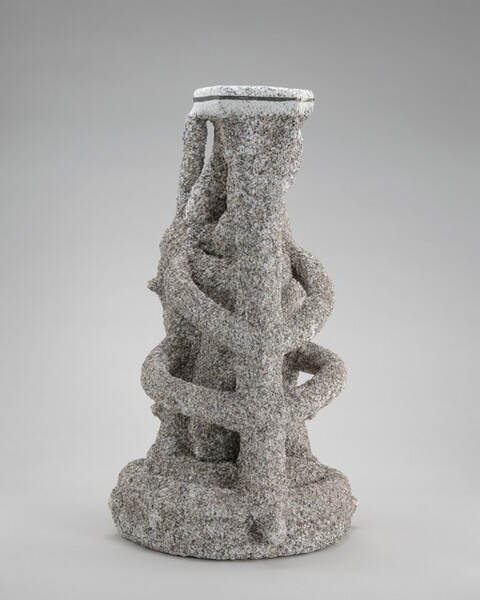 Lost-Wax Casting Display: investment mold [seventh of ten steps]