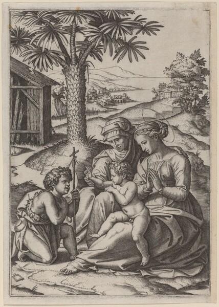 Madonna under a Palm Tree