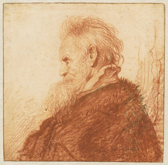 Head of an Old Man (recto)
