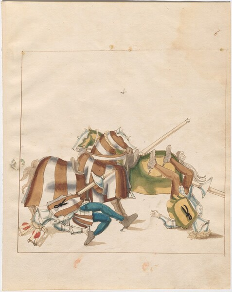 Freydal, The Book of Jousts and Tournaments of Emperor Maximilian I: Combats on Horseback (Jousts)(Volume I): Plate 5