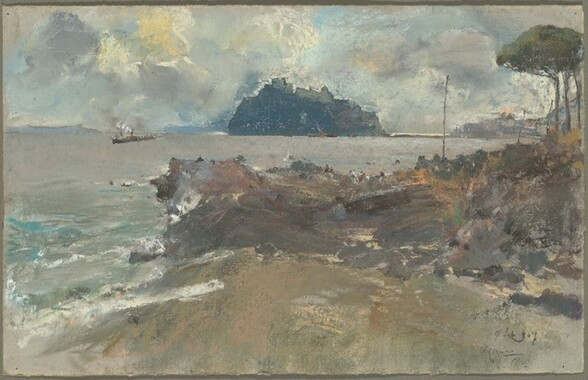 View of the Phlegraean Island of Nisida from Posillipo