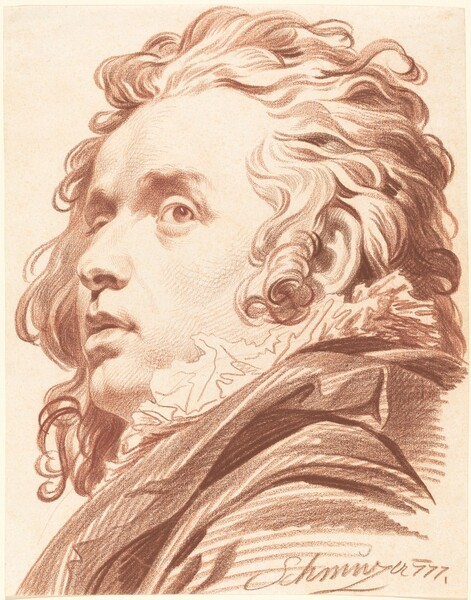 A Young Man with Flowing Hair
